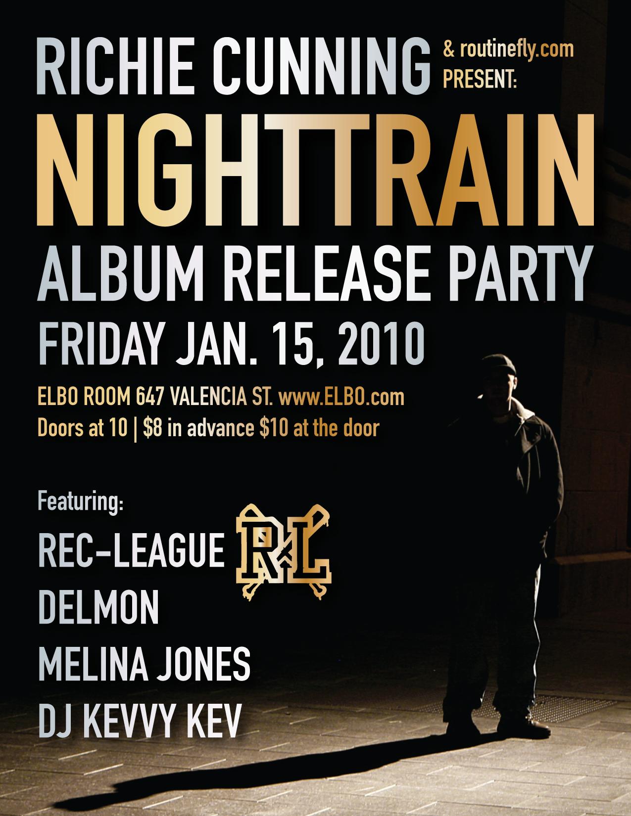 Night Train Album Release Party San Francisco CA